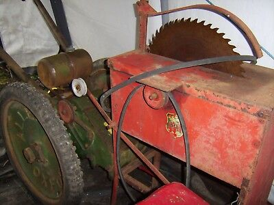 ** Very Rare**  Agricultural** Genuine Oxford Allen Saw Bench With Allen Scythe*
