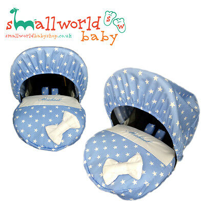 Personalised Blue Star Baby Car Seat Cover ( NEXT DAY DISPATCH)
