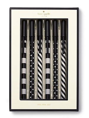 Kate Spade Top of the Line Ink Pen Set - Set of 6