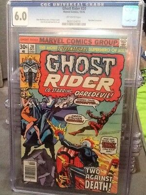 Ghost Rider #20 (1976) Daredevil CGC 6.0 OW Pages. *Please Read*.