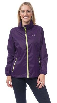 Mac in a Sack Jacket MED Origin Unisex Waterproof Packable Grape Rain Coat