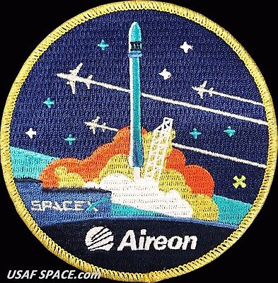 ORIGINAL Aireon -Iridium NEXT 3 - SPACEX FALCON 9 Launch SATELLITE Mission PATCH
