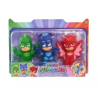 PJ Masks Water Squirters Set of 3 bath toys Owlette GEKKO Catboy Preschool Baby