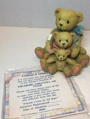 """EUC: Cherished Teddies #950505 """"Friends Come In All Sizes"""" - Hamilton Gifts©1991"""