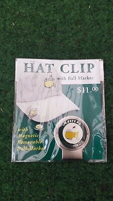New Magnetic Augusta Masters Hat Cap Visor Clip and Ball Marker Set