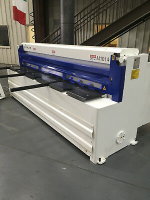 10ft Sheet Metal Shear CNC 14GA with Sheet Support and POWER BACK GAUGE