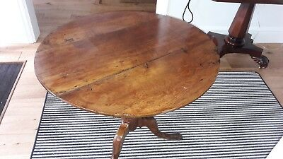 Antique oak tilt top table