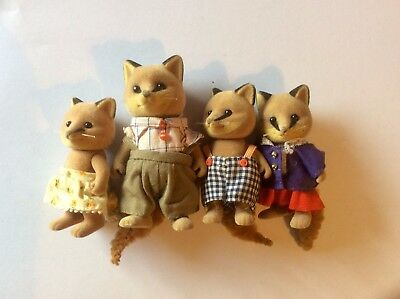 Sylvanian Families Fox family of 4 - 1980s family