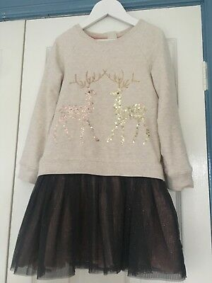 Monsoon Girls Christmas Dress Age 7-8 New With Tags