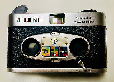 VIEWMASTER Stereo Color Camera Mark II; 3D-Kamera by Rodenstock; w/Bag; RARE!!!