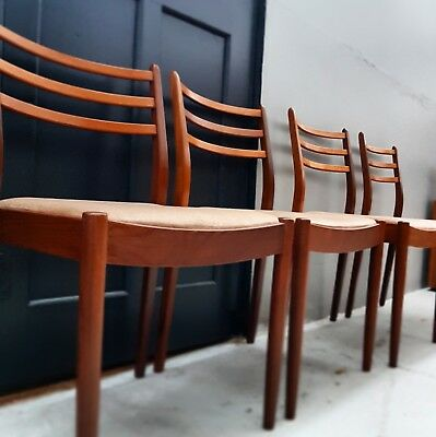 Vintage Retro G Plan Set of 4 Teak Dining Chairs Mid Century Courier Possible