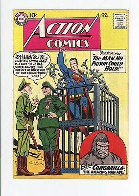 ACTION COMICS #248 - HIGH GRADE VF/NM 9.0 - SUPERMAN - Jan 1959  SCIENCE FICTION