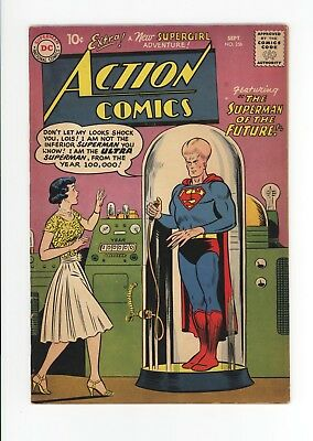 ACTION COMICS #256 - NICE GRADE - VERY EARLY SUPERGIRL - Sept 1959 - SUPERMAN