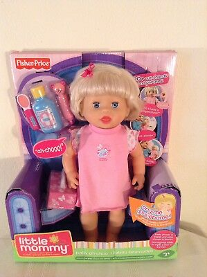 Fisher Price Little Mommy Doll Ah-choo New In Box 14""