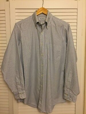 Brooks Brothers OCBD Made In USA Blue Candy Stripe
