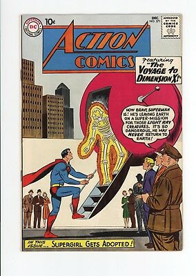 ACTION COMICS #271 - HIGH GRADE - SUPERGIRL GET'S ADOPTED & 1st FORTRESS - 1960