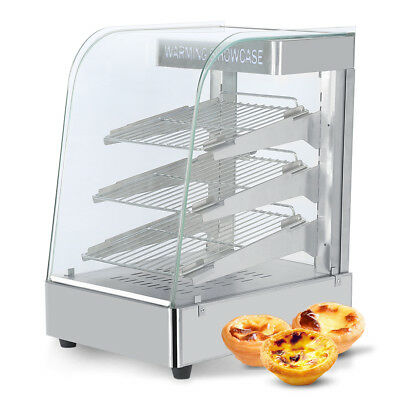 Quality Stainless Steel Food Warmer Pie Warm Fresh Hot Display Showcase Cabinet