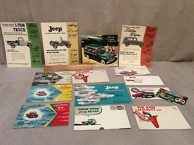 Jeep 1950 - 1960. 's Assorted Brochures Mailers Lot Of 15 Items No Reserve