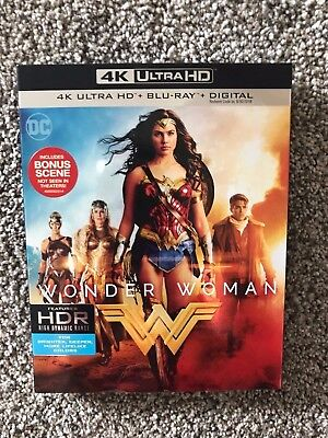 Wonder Woman (2017, Includes Digital Copy 4K Ultra HD Blu-ray/Blu-ray) New