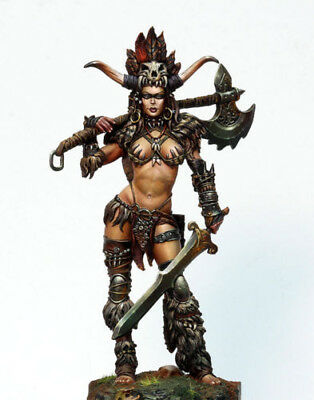 Resin Figur Female Warrior 90mm