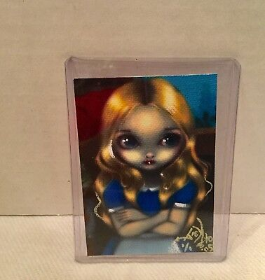 Jasmine Becket-Griffith big eyes mini  art card  Alice in Thought signed 01/01