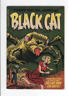 Black Cat Mystery #53 - Great Horror Cover - Loaded With Horror Stories! 1954