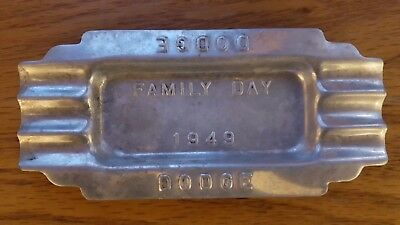 GENUINE DODGE Vintage 1949 Aluminum Ash Tray Family Day Promotional Item