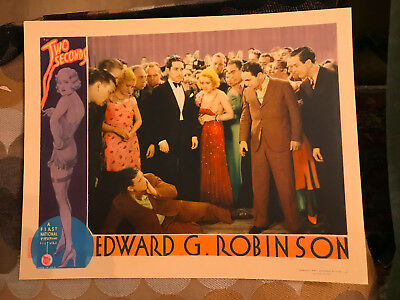 Two Seconds 1932 First National/Vitaphone crime lobby card Edward G. Robinson