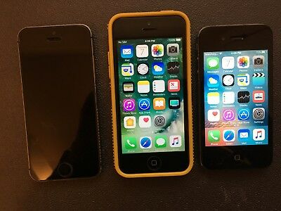 iPhone 5S, 5C 16GB and 4S 64GB for Parts or Restoration