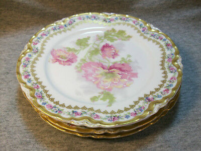 Three Haviland Limoge French Saucers