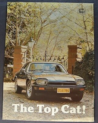 1977-1978 Jaguar XJ-S Sales Brochure Folder Road Test Excellent Original