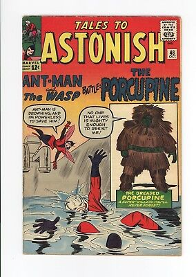 Tales To Astonish #48 - Nice Early Ant-Man! - Jack Kirby Cover - Ditko Art -1963