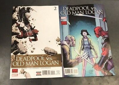 2x DEADPOOL VS OLD MAN LOGAN 2;LIM VARIANT Declan Shalvey Mike Henderson Marvel