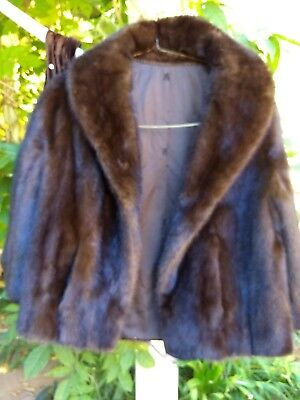 BEAUTIFUL mink jacket brown sz M vintage