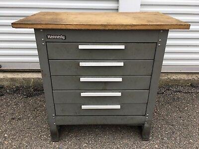 Kennedy Tool Box 5 drawer Cabinet with wood top