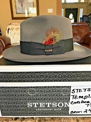 "Stetson ""temple"" Soverieign Caribou Size 7 3/8 Great Dress Fedora!"
