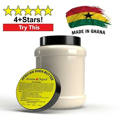 3 lb African Shea Butter Ivory From Ghana 100% Pure Raw Unrefined Organic Bulk