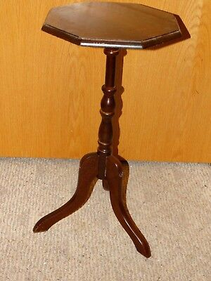 Vintage Wooden Wood Spindle Table Side Table Telephone Curio Plant Stand 3 Legs