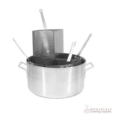 Pasta Cooker 20 Litre Aluminium Pot w 4 Inserts CaterChef Stovetop Cooking NEW