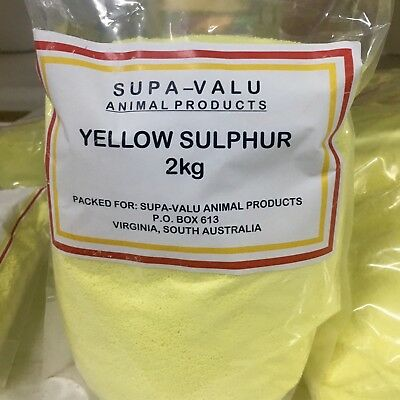 Yellow Sulphur Powder 2kg ~ Animal Product