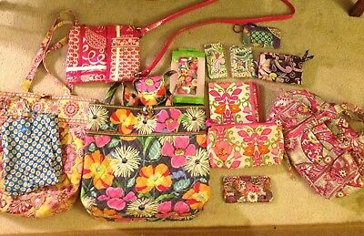 Vera Bradley Lot Of 13 Pieces Variety Patterns Including 2 Totes - Pre-Owned
