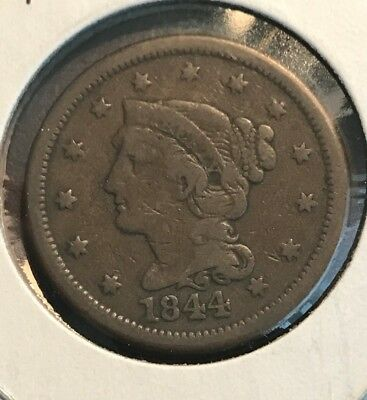 1844 Large Cent, NICE COIN IN F-VF CONDITION, MAKE ME AN OFFER!!!! C0053