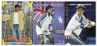 3 Tennis Cards From  Intrepid Of Mark Philippoussis