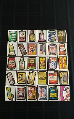 1974 Original Wacky Packages 9th Series Complete Set Of Stickers
