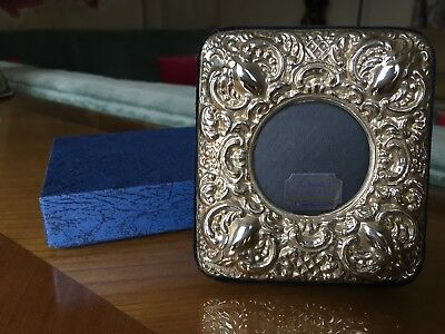 Hallmarked Sterling Silver Photo Frame Decorative Antique Style  Design