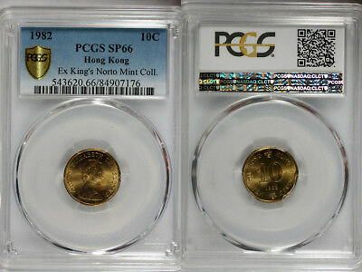 1982 Hong Kong 10c PCGS SP66 - Extremely Rare Kings Norton Mint Proof