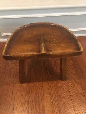 Vintage 3 Legged Milk Stool From Wisconsin Barn Estate Sale
