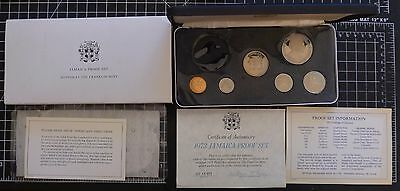 ✔ 1973 Jamaica Proof Set with COA & OGP Franklin Mint Big Coin Missing