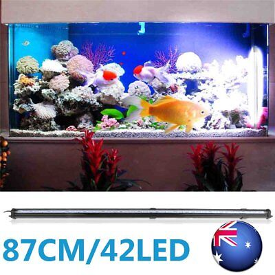 87CM 42 LED Aquarium Fish Tank RGB Submersible Air Bubble Light Remote AU Plug