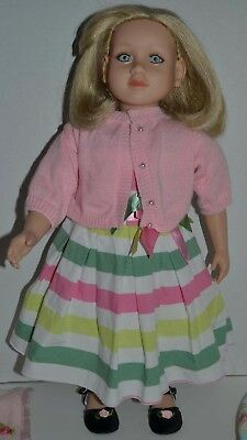 """23"""" My Twinn Pose-able Doll w Blonde Hair, Blue Eyes & Freckles Extra Clothes"""